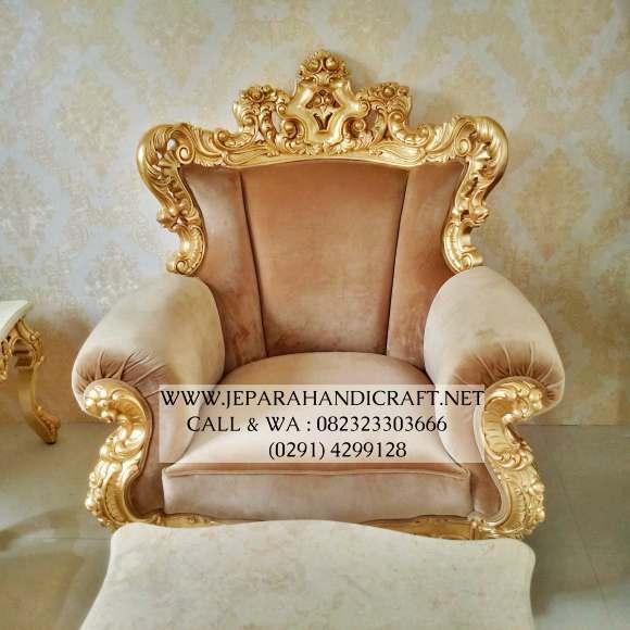 Gambar Sofa Ruang Tamu Mewah Eolo Gold