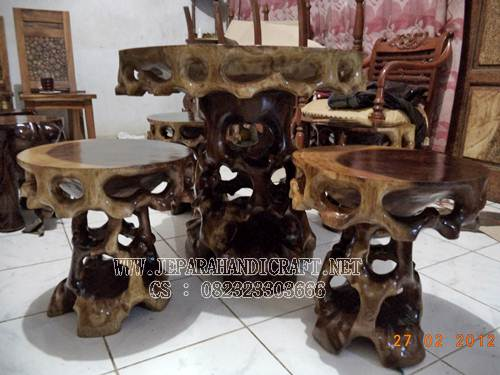 set kursi tamu unik bonsai murah