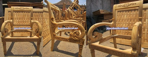 Jual Furniture Set Kursi Tamu Jati Gianni Armchair Jepara Murah