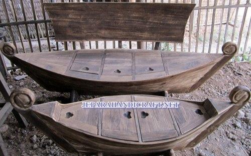 Gambar set sofa perahu antik