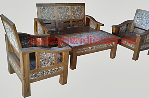 Jual Furniture Kursi Tamu Minimalis Koin Jati Jepara