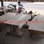 Bangku Taman Antik Trembesi Solid Wood