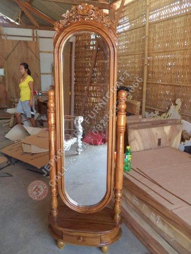 Jual Cermin Goyang Mawar Krawang Kayu Jati Harga Murah