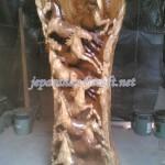 Patung Relief Kayu Kuda Tegak Antik