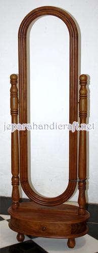 Gambar cermin goyang kayu jati