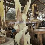 Patung Kayu 3 Elang