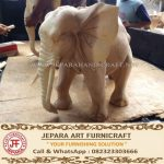 Patung Gajah India Kayu Trembesi Utuh