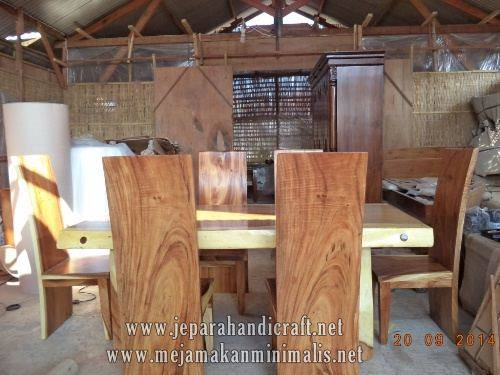 Gambar Set Kursi Makan Antik Trembesi Solid Wood 4