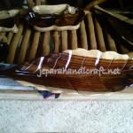 Nampan Kayu Antik Daun Sono