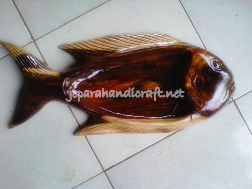 Jual Nampan Kayu Antik Ikan Sono Keling