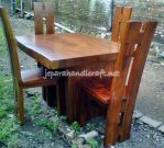 Set Kursi Makan Mebel Antik H Solid Wood