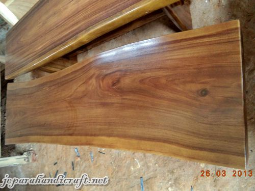 Gambar Bangku Taman Solid Wood Natural 2