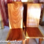 Gambar KURSI MAKAN BLOK SOLID WOOD FINISH NATURAL SEMI GLOSS 150x150