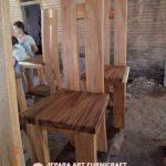 Set Meja Makan Antik Solid Kombinasi 6 Kursi H