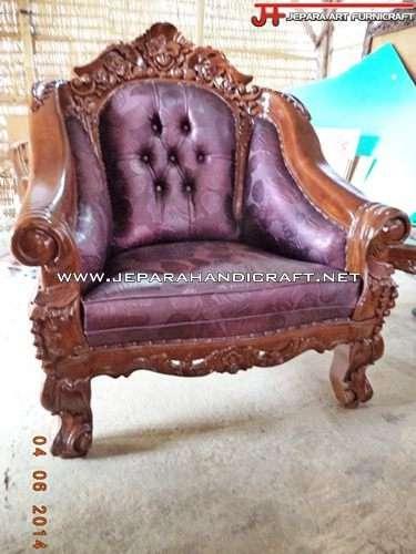 Gambar Kursi Sofa Tamu Jati Ganesha Mawar 1
