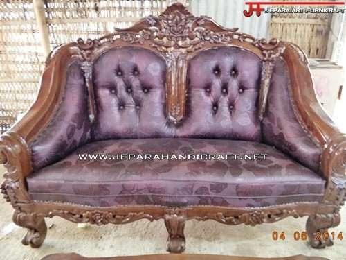 Gambar Kursi Sofa Tamu Jati Ganesha Mawar 2