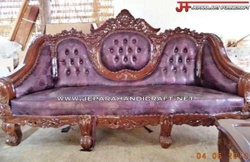 Berkualitas Kursi Sofa Tamu Jati Ganesha Mawar