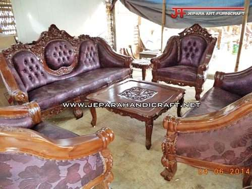 Gambar Kursi Sofa Tamu Jati Ganesha Mawar 4