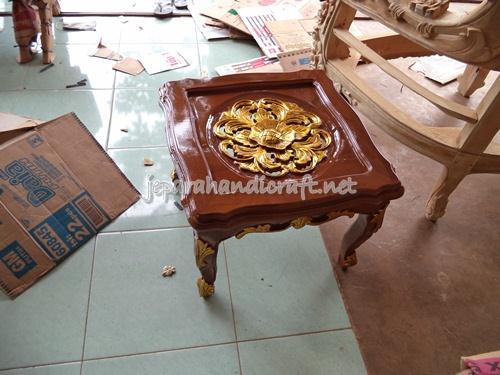 Meja Kecil Tamu Jati Jepara Ganesha Mawar
