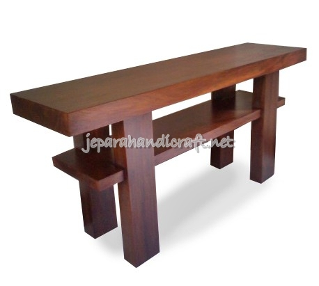 Gambar Meja Konsul Minimalis Solid Wood