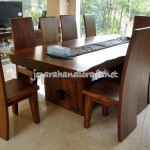 Gambar Meja Kursi Makan Solid Wood Trembesi Natural 150x150