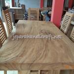 Meja Makan Minimalis Antik Solid Wood 6 Kursi Jari