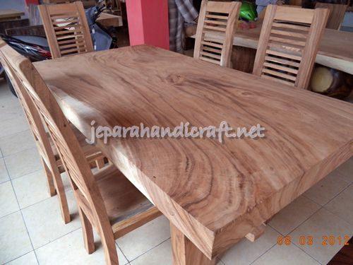 Gambar Meja Makan Minimalis Antik Solid Wood 6 Kursi Jari 2