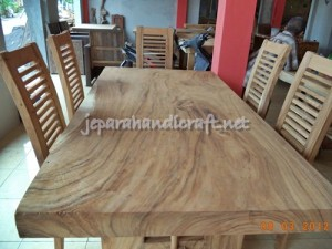 Gambar Meja Makan Minimalis Antik Solid Wood 6 Kursi Jari 300x225