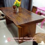 Meja Makan Trembesi Solid Wood 2MX1M Tebal 10 Cm