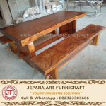 Meja Makan Trembesi Solid Wood 2X1 Meter Murah
