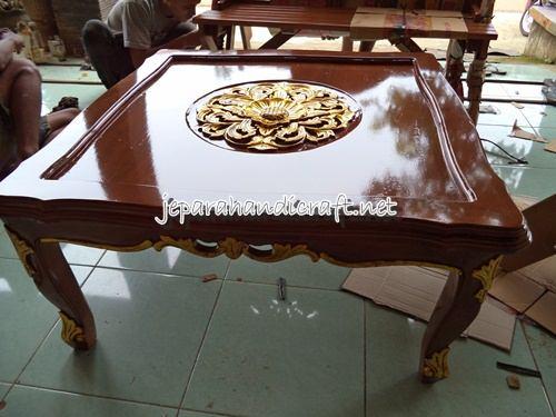 Kursi Tamu Jati Jepara Ganesha Mawar