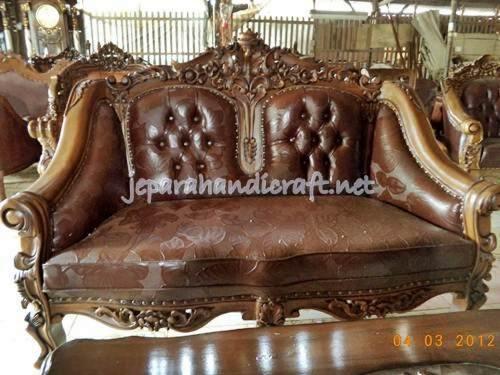 Gambar Set Kursi Tamu Jati Ganesha Royal Jambu8
