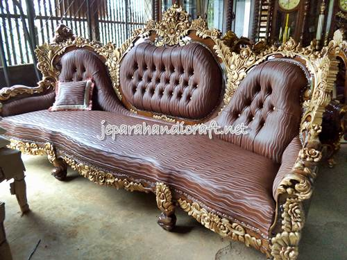 Gambar Set Kursi Tamu Sofa Jati Calista Royal 2