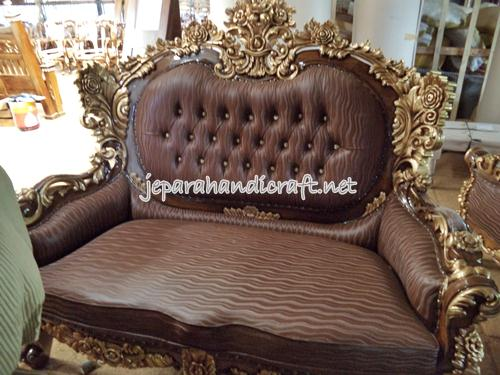 Gambar Set Kursi Tamu Sofa Jati Calista Royal 5
