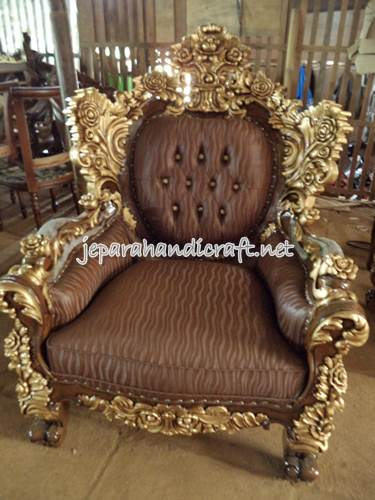 Gambar Set Kursi Tamu Sofa Jati Calista Royal