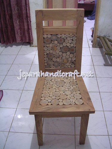 Gambar Set Meja Makan Antik Koin Jati Finishing Natural 4