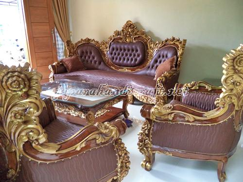 Sofa Ruang Tamu Jati Royal Calista
