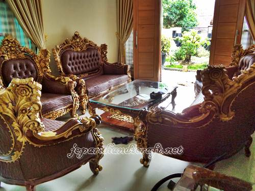 Kursi Tamu Sofa Jati Royal Calista Murah