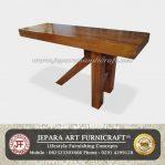 Meja Bar Antik Solid Wood Kaki Tiga