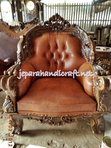 Gambar set kursi sofa tamu jati omero 2