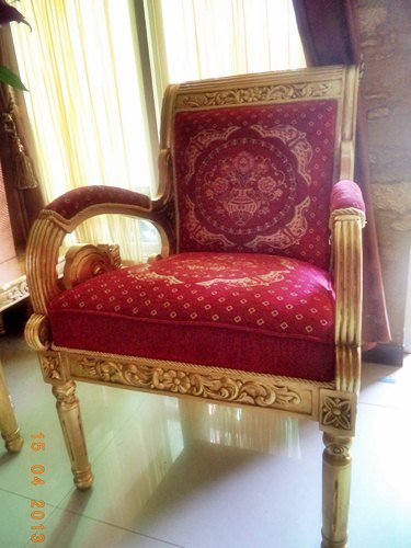 Kursi Tamu Jati New Gianni Gold Athena 1 seater