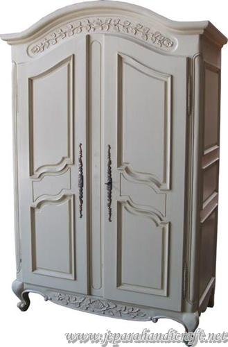 Gambar Arch Top Armoire with plain panels ARM006 H 200 cm x W 131cm x D 69cm