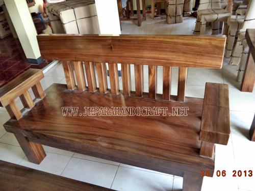Jual Kursi Tamu Minimalis Solid Wood Unnatural 2 seat