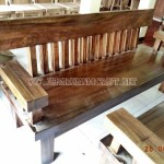 Meja Kursi Tamu Minimalis Solid Wood Unnatural