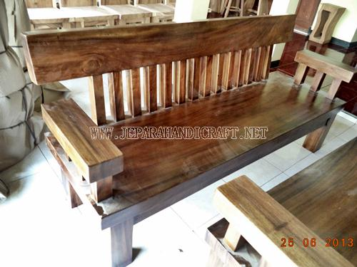 Jual Kursi Tamu Minimalis Solid Wood Unnatural 3 seat