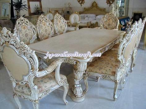 Furniture Classic Meja Kursi Makan Klasik Minerva 8 Kursi