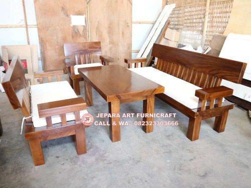 Gambar Meja Kursi Tamu Minimalis Solid Wood Unnatural 1