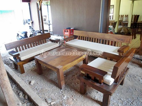 Jual Meja Kursi Tamu Minimalis Solid Wood Unnatural