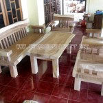 Kursi Tamu Antik Solid Wood Natural Trembesi
