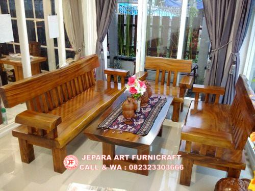 Gambar Kursi Tamu Antik Solid Wood Natural Trembesi 8